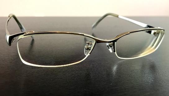 洗ったメガネ